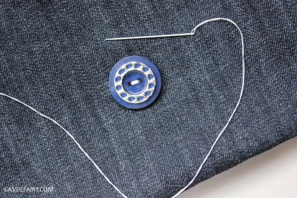 diy sewing project denim jeans clutch bag-8