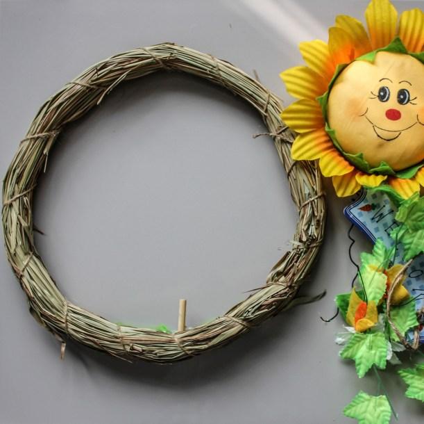 diy spring wreath by Cassiefairy step 1