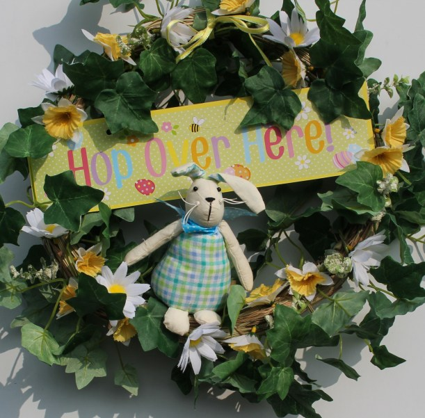 diy spring wreath for easter by Cassiefairy