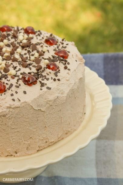 easy chocolate cherry cake baking recipe-2
