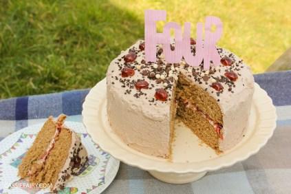 easy chocolate cherry cake baking recipe-7