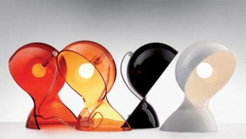 artemide lamps retro orange colours vico magistretti