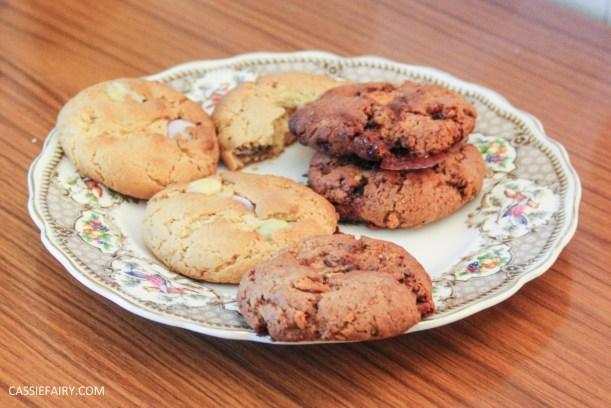 cassiefairy pieday friday blog recipe chocolate smarties cookies diy-9