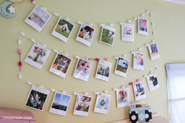 diy polariod photo wall display decoration using polabox-14