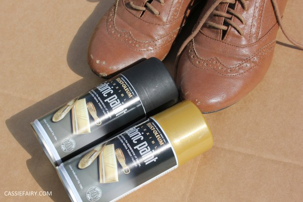 tuesday shoesday diy shoe makeover using spray paint. Black Bedroom Furniture Sets. Home Design Ideas