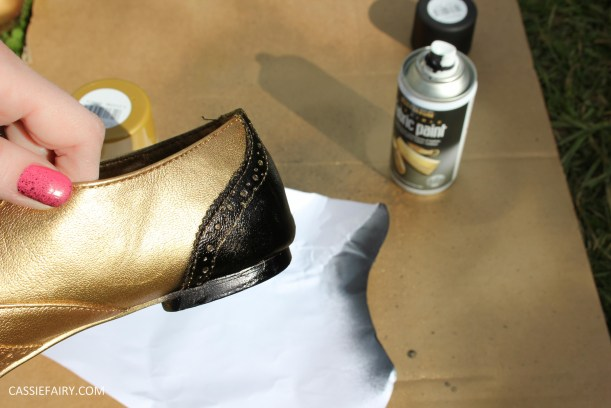 tuesday shoesday cassiefairy diy shoe makeover with fabric spray paint from rustoleum-3
