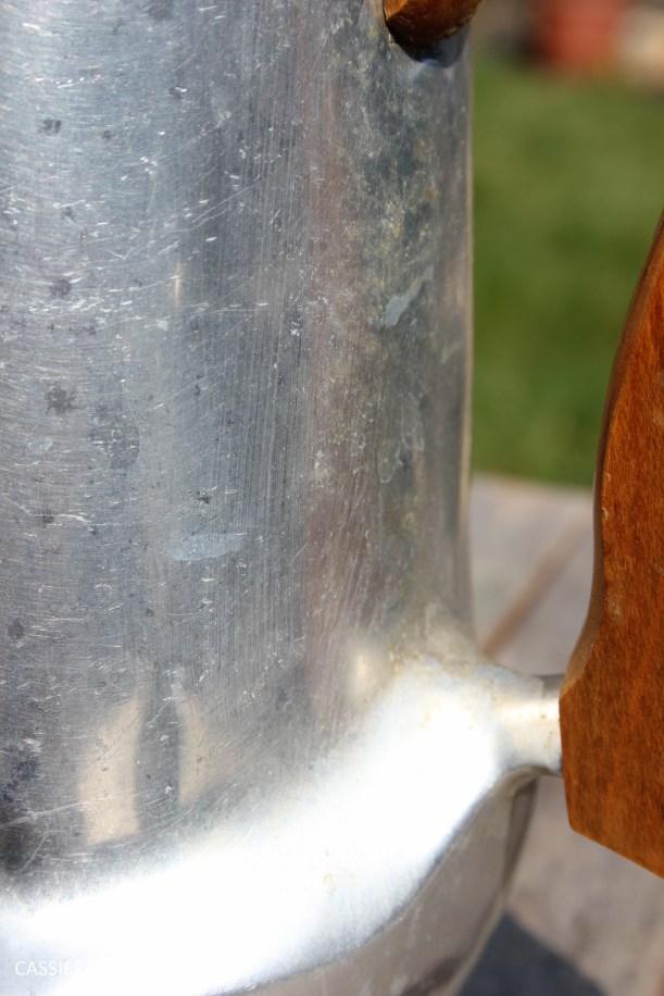 DIY polishing midcentury modern silvertea set picquot ware teapot-6