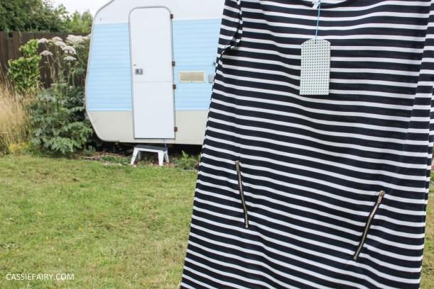 black and white stripe dress blue vanilla-6