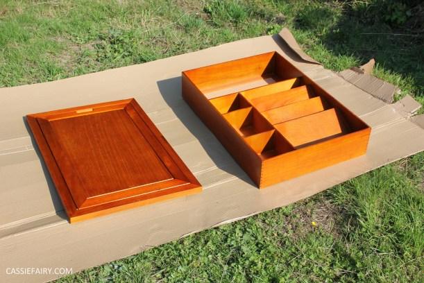 kitchen DIY furniture Makeover project bake station - storage cooking baking tutorial