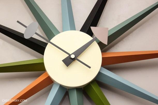 mid century modern interior design starburst clock-2