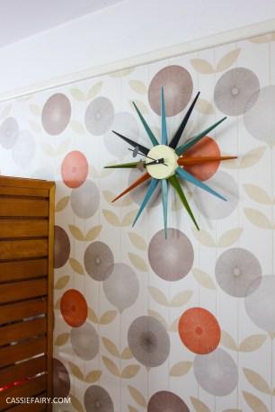 mid century modern interior design starburst clock-8