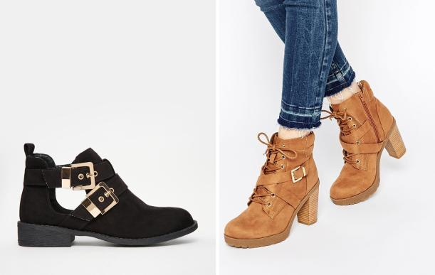 suede shoes new season autum trend from asos new look heels buckles boots