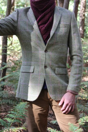menswear mens fashion styling a tweed jacket layered warm outdoor forest autumn winter-17