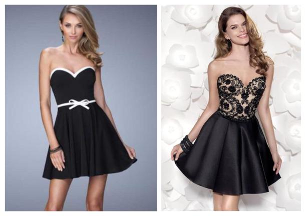 strapless a line party dress for pear shape