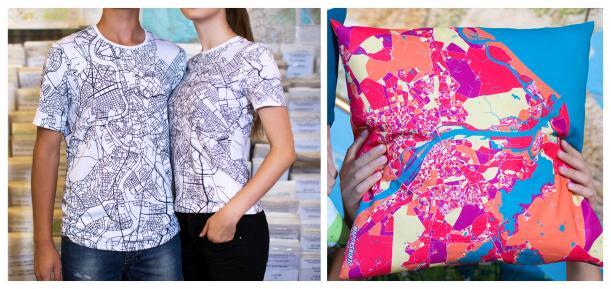 maponshirt pillow and tshirts printing map geek