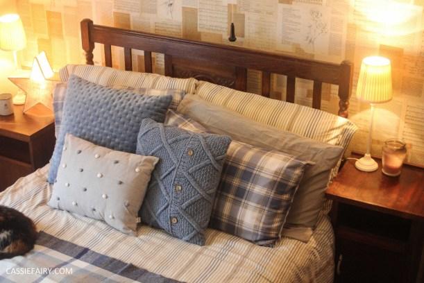 winter interior design - cosy autumn bedroom styling idea inspiration
