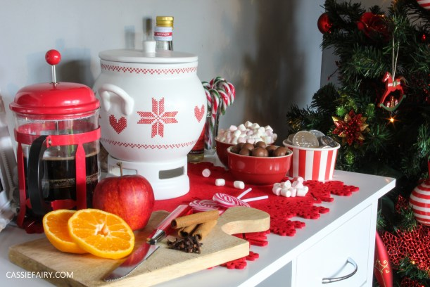 custom made DIY christmas drinks cart project mulled wine hot chocolate spied latte-21