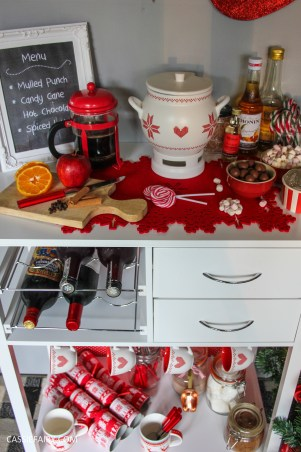 custom made DIY christmas drinks cart project mulled wine hot chocolate spied latte-24