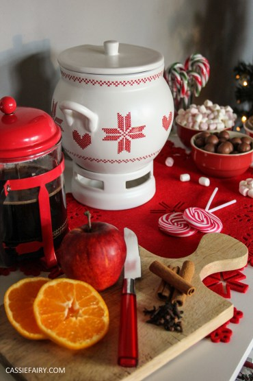 custom made DIY christmas drinks cart project mulled wine hot chocolate spied latte-25