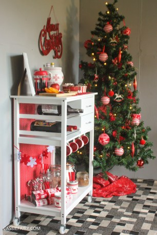 custom made DIY christmas drinks cart project mulled wine hot chocolate spied latte-29