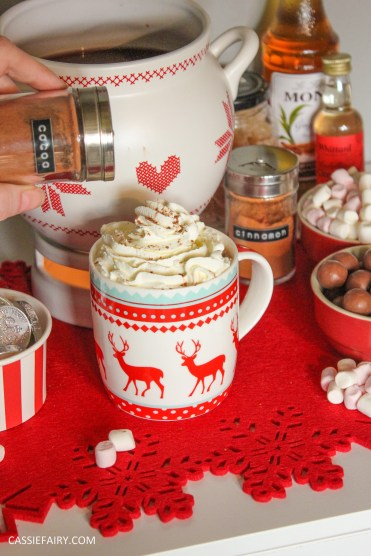 xmas custom made DIY christmas hot drinks cart project mulled wine hot chocolate spied latte