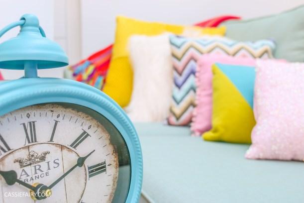 DFS candy colours interior design inspiration for spring summer 2016 clock 1
