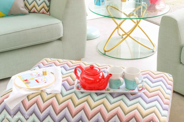 DFS candy colours interior design inspiration for spring summer 2016 footstool 2