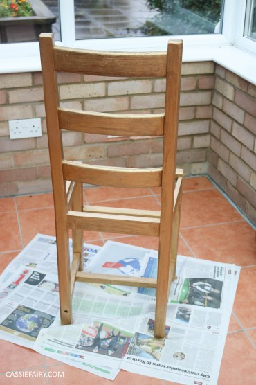 Furniture Makeover Project Rust-Oleum paint retro conservatory chair_-11