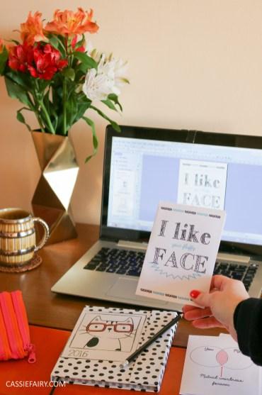diy printed personalised valentines birthday card epson printer craft tutorial