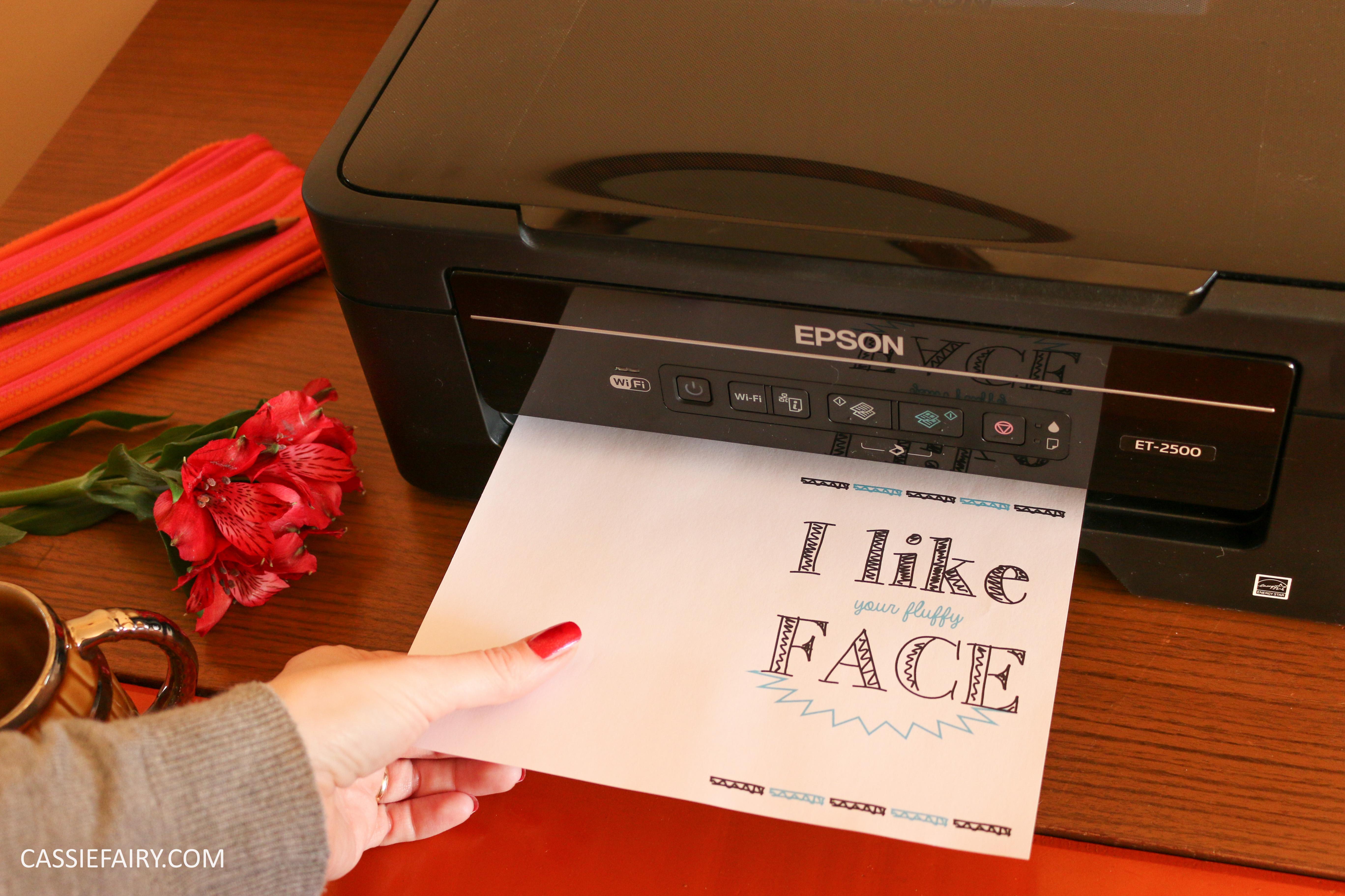 diy printed personalised valentines birthday card epson