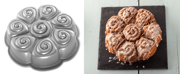 what cake comes from what tin cinnamon buns