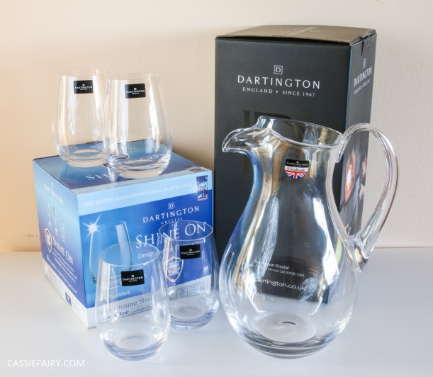 dartington crystal jug and tumblers