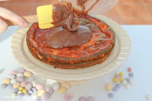 easter eggs baked chocolate cheesecake recipe ganache