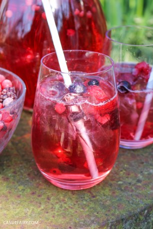 summer fruit punch recipe cranberry raspberry fizz for easter-7
