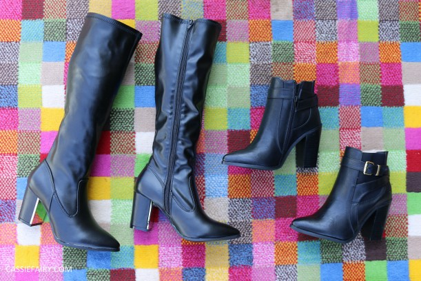 tuesday shoesday knee high boots v ankle boots blog review