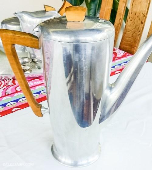 Picquot ware coffee pot percolator magnalium