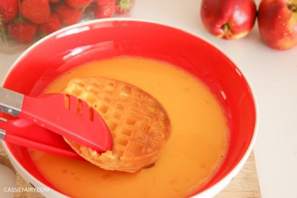 birds eye breakfast waffles eggy bread french toast fruit breakfast brunch recipe-5