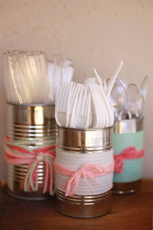 plastic cutlery shabby chic party ideas inspiration low cost budget thrifty