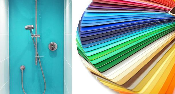 bright Colours bathroom shower splashback