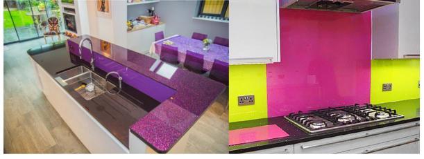 bright colour kitchen splashback interior design inspiration