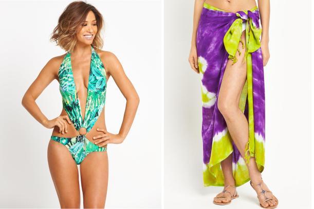 fashion trend summer 2016 myleene klass swinwear and tie dye sarong