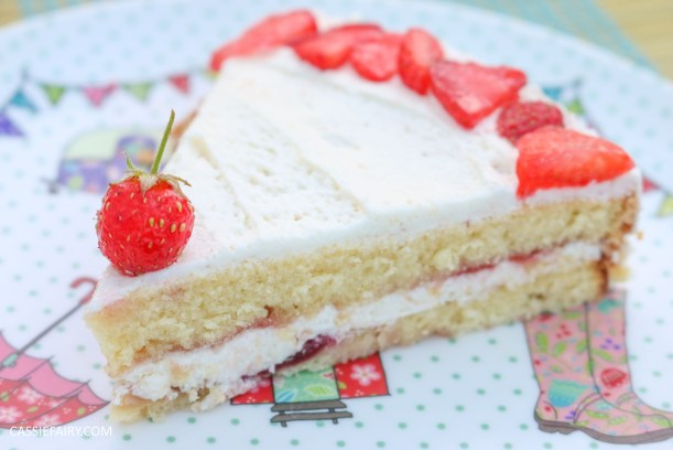 fruit cake cherry strawberry sponge bake baking recipe-10