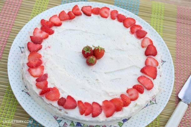 fruit cake cherry strawberry sponge bake baking recipe-5