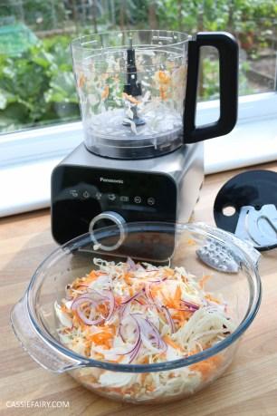 homemade summer coleslaw panasonic food processor bbq dish-11