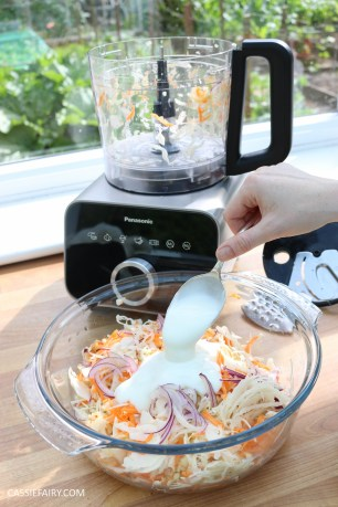 homemade summer coleslaw panasonic food processor bbq dish-12