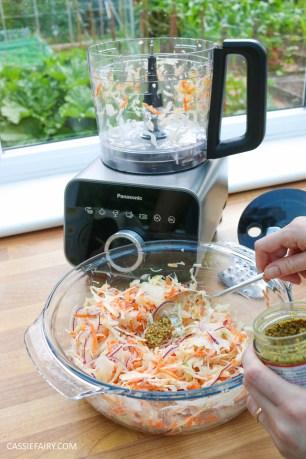 homemade summer coleslaw panasonic food processor bbq dish-14