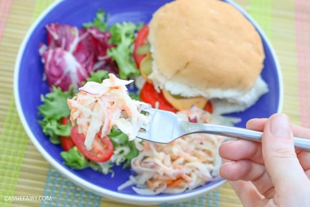 homemade summer coleslaw panasonic food processor bbq dish-20