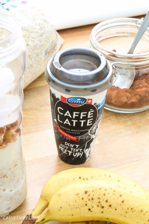 healthy breakfast recipe inspiration friyay smoothie oats coffee latte banana chocolate-7