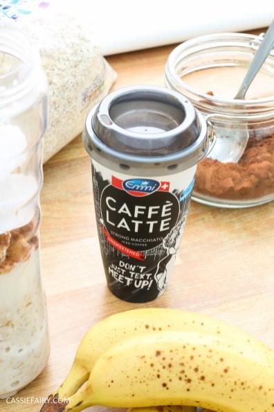 healthy breakfast recipe inspiration friyay smoothie oats coffee latte banana chocolate-7