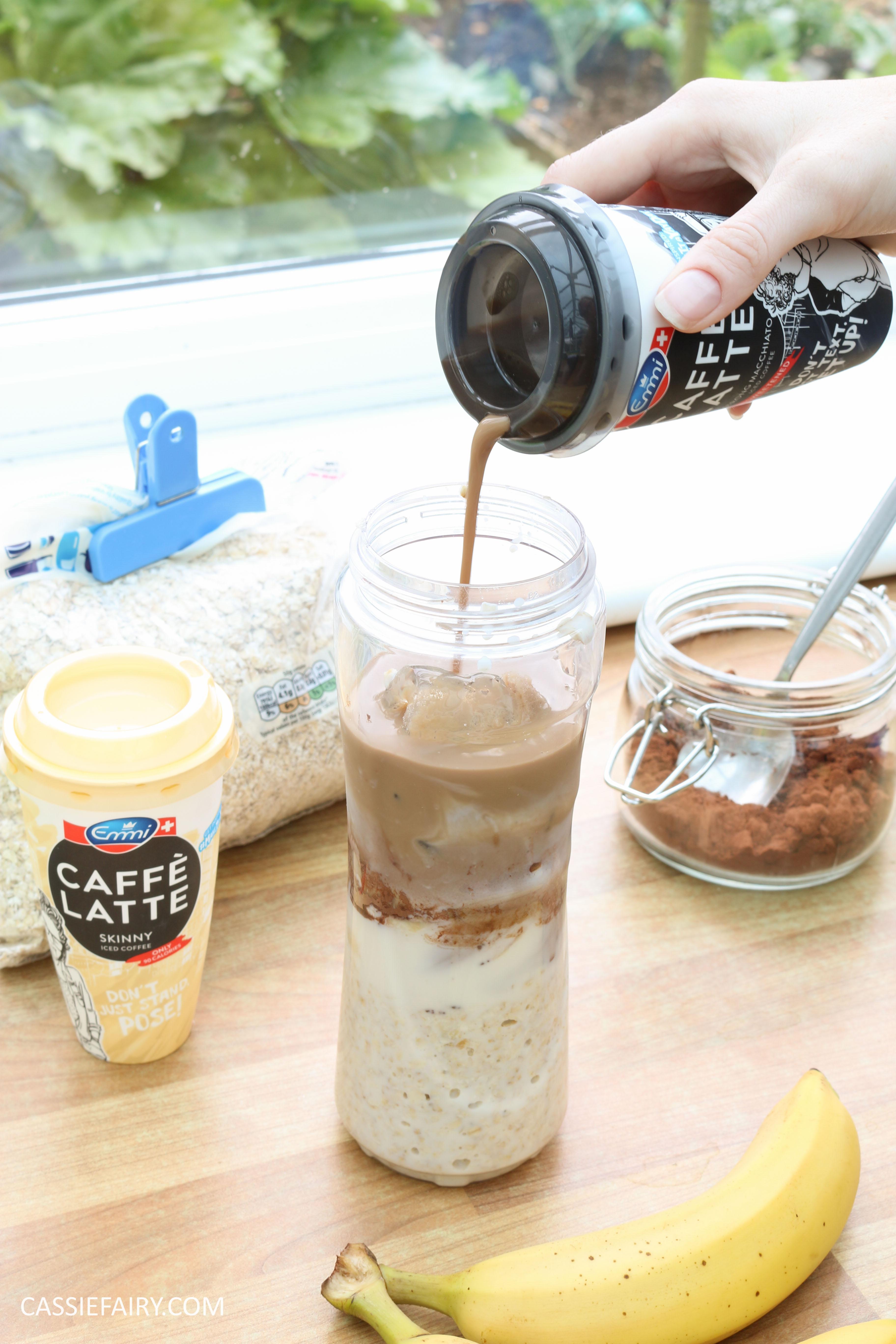 healthy breakfast recipe inspiration friyay smoothie oats coffee latte banana chocolate-8
